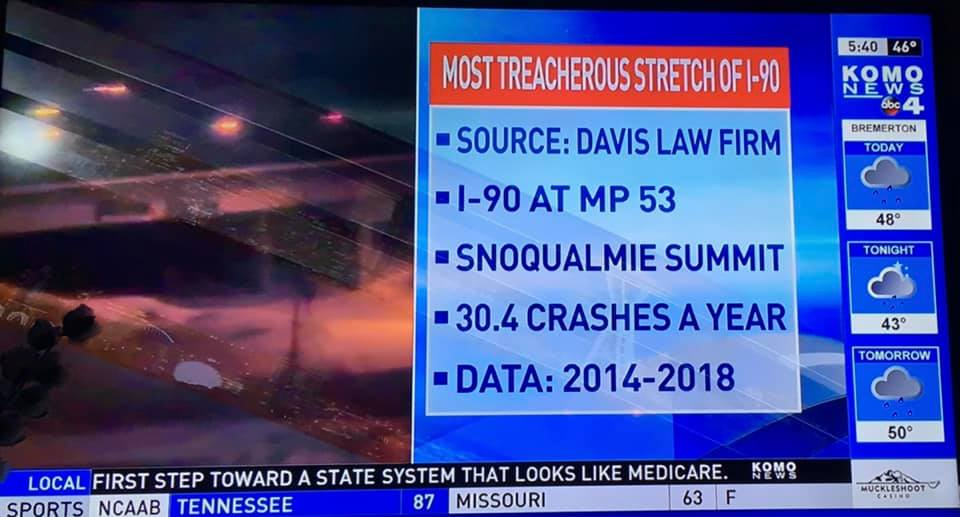 Snoqualmie Pass Accident Attorney | Davis Law Group