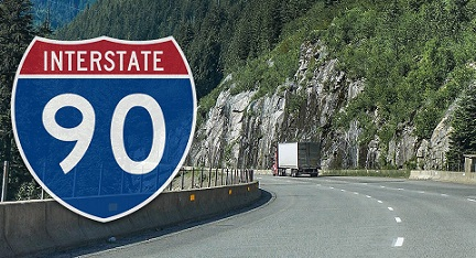 Semi Truck Accident On I-90 Today | Large Truck Crash Reports