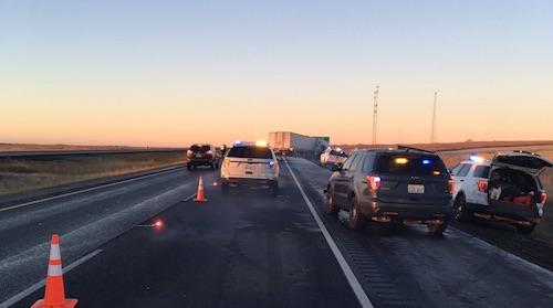 1 Dead, 3 Injured in Semi Collision on I-90 Near Sprague