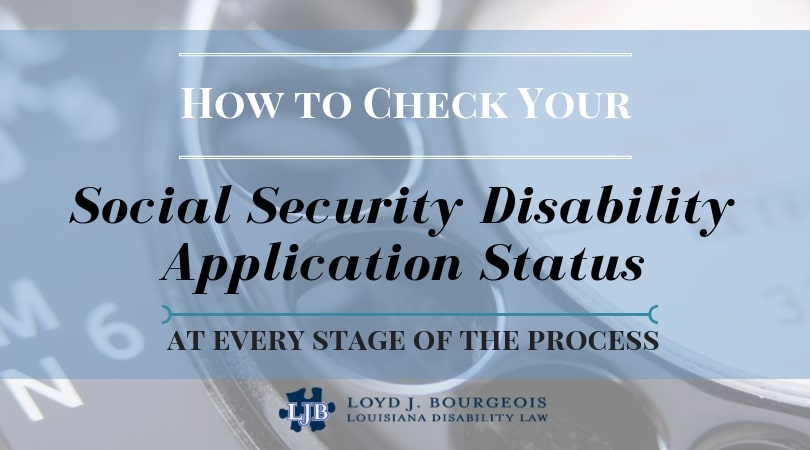 How do I check my Social Security Disability Application