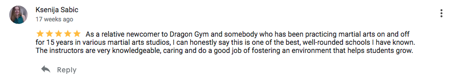 One of the best, well-rounded schools I have known  | Dragon Gym