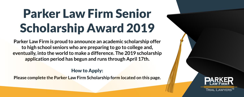 Parker Law Firm Senior Scholarship Award   Parker Law Firm