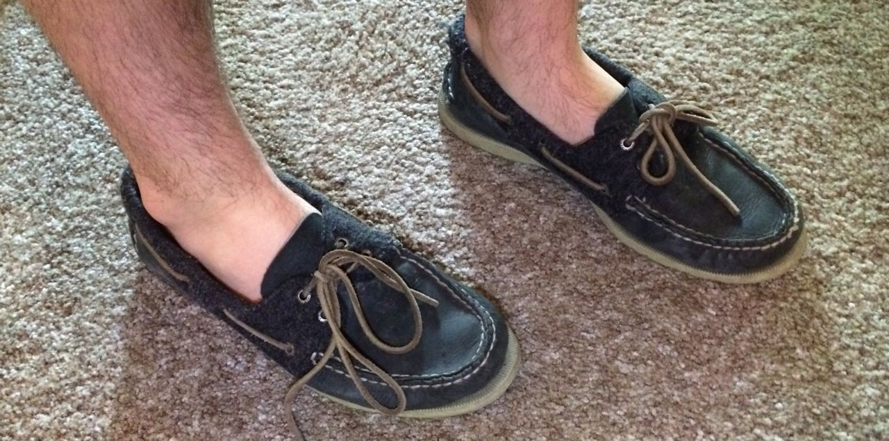 Foot with Moccasins and Boat Shoes