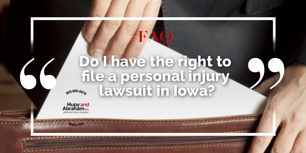 Standing to File an Iowa Personal Injury Lawsuit | Hupy and