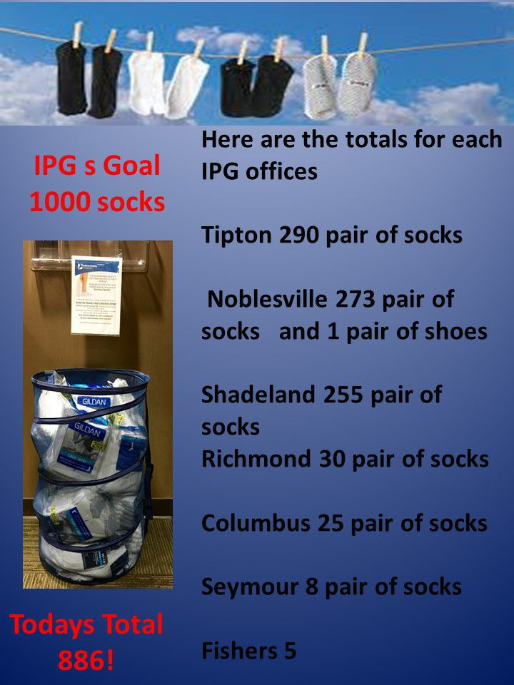 Today's socks Total 886! | Indiana Podiatry Group