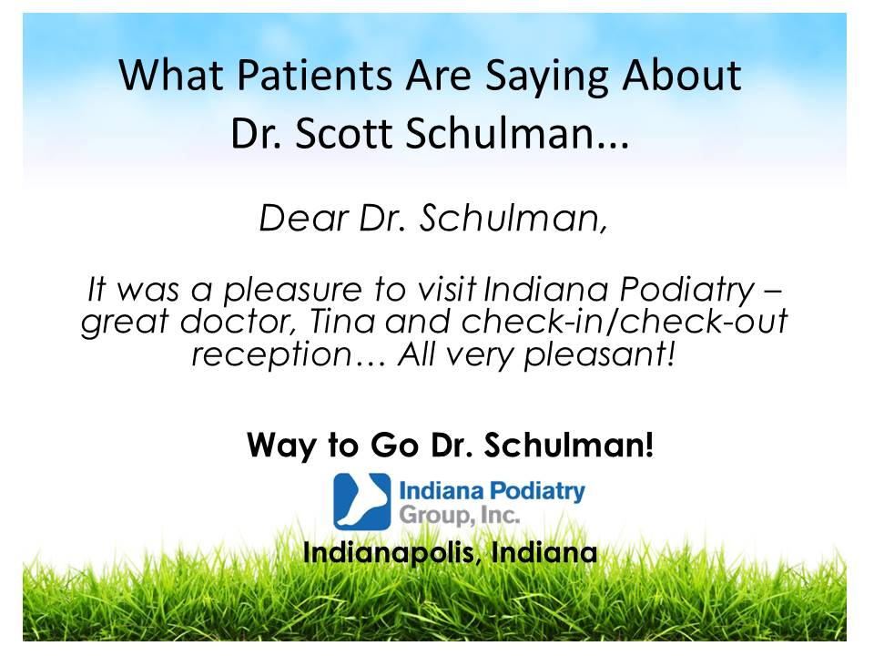 It Was A Pleasure To Visit Indiana Podiatry