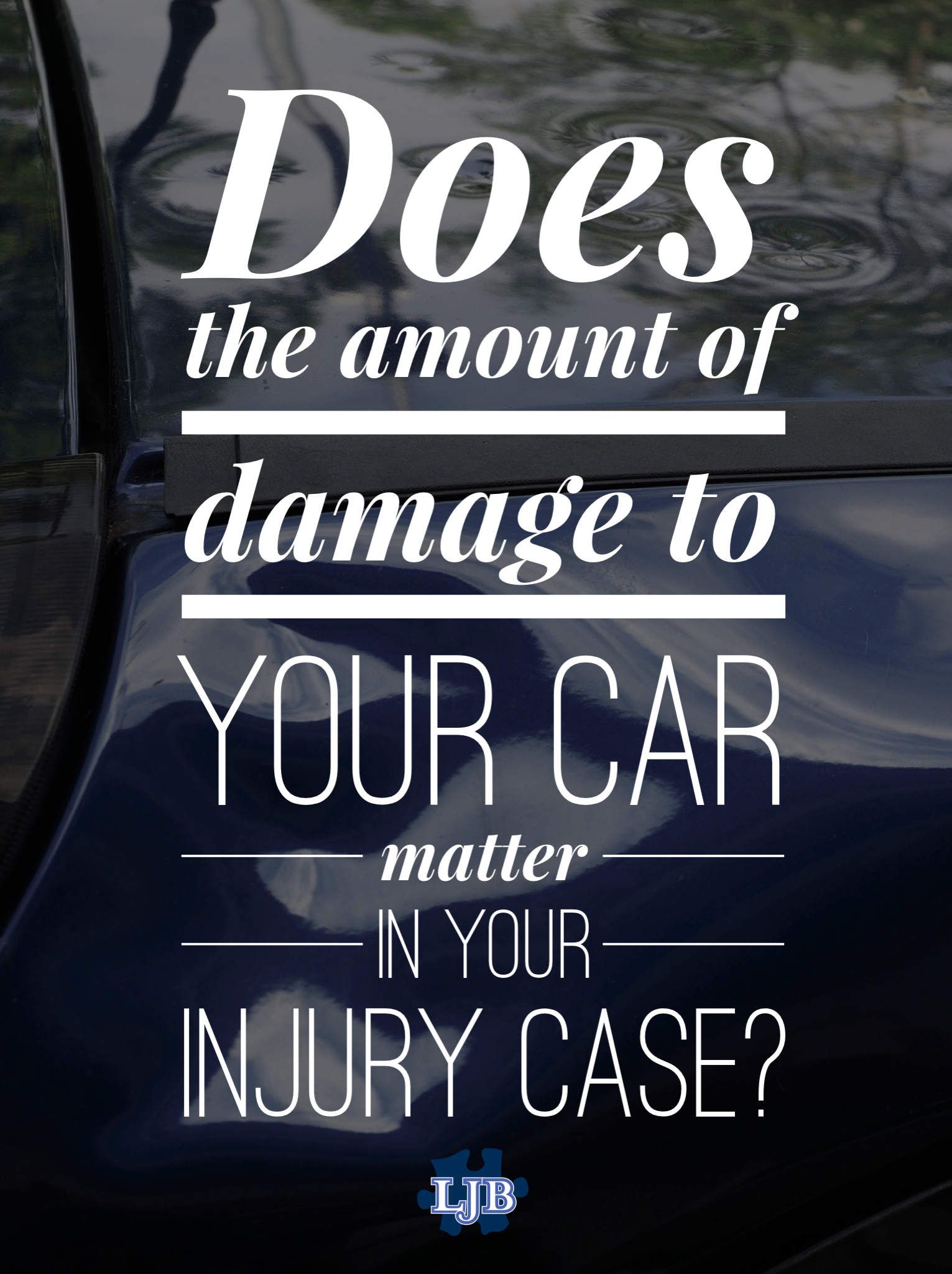 Does The Amount Of Property Damage To Your Car Matter In
